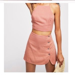 Free People Skirt and Halter Set